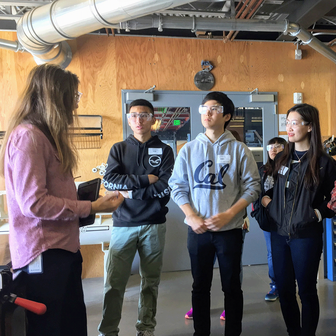 International students visit tech company Autodesk in San Francisco