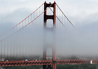 Fog at the Golden Gate Bridge