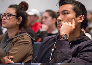 SF State students listen in a lecture hall