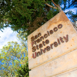 Sign for San Francisco State University